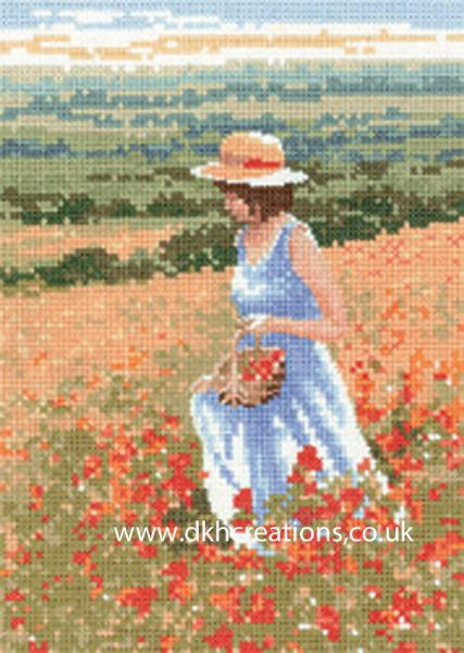 Poppy Girl Cross Stitch Kit